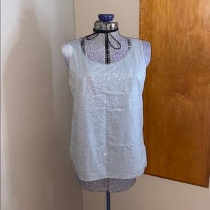 Gray Coldwater Creek Sequined Tank Sz. 14